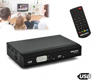 DEC 548 USB TDT para anchos de banda VHF y UHF doble EUROCONECTOR Majestic