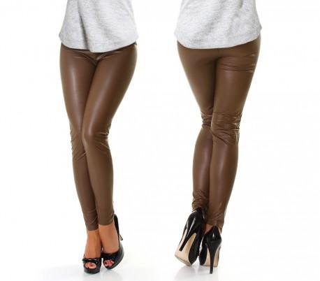 Códigos promocionales gran variedad de comprar auténtico 851223 Leggings efecto piel color Marrón claro diferentes tallas