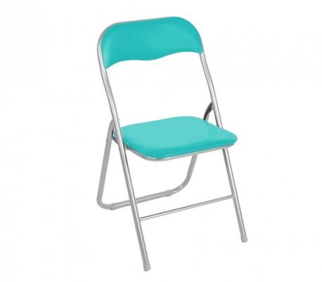 2008AN0816 Set de 6 sillas plegables mod.Oslo base metálica y asiento acolchado