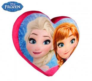 826117 Cojín suave 3D en forma de corazón Anna y Elsa Frozen 38 x 35 cm