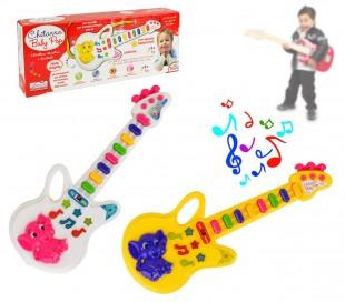 103855 Guitarra de juguete con luces predefinidas melodías y correa para hombro