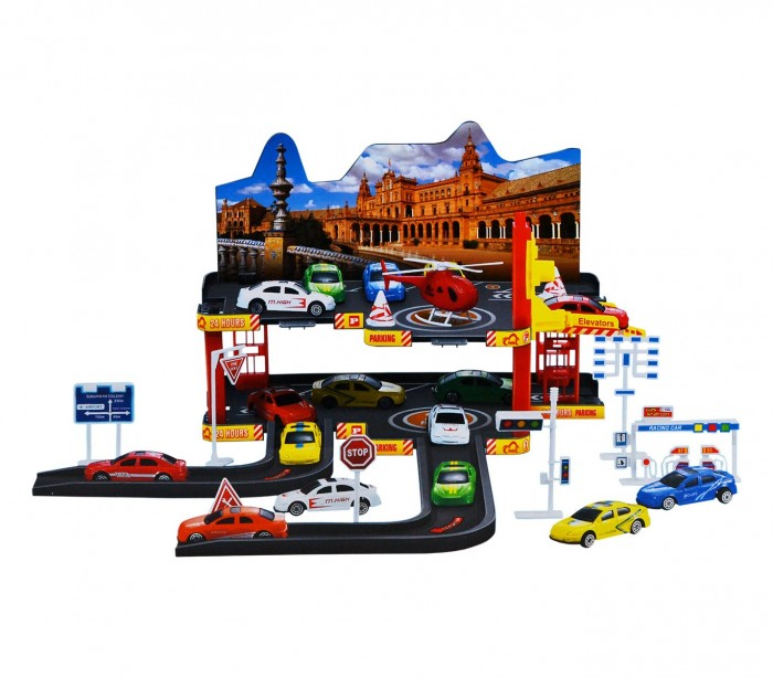 36602 garaje con coches de juguete 3 coches escala 7 16 1 - Garaje de coches ...