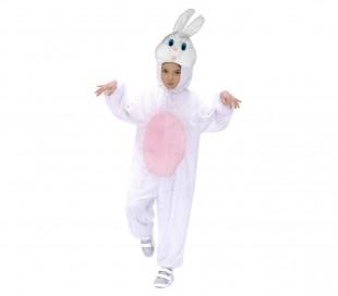 227639 Difraz carnaval motivo conejo blanco de una pieza niño y niña -1 a 4 años