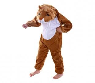 227691 Disfraz de carnaval de Leona niño y niña con cremallera onesie -1 a 4 año