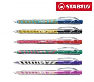 Pack 6 bolígrafos diferentes colores STABILO edición limitada 338 / 6-5