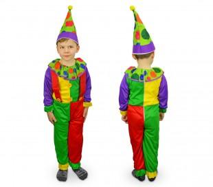 537301 Disfraz de carnaval motivo PAYASO (3 a 12 años)