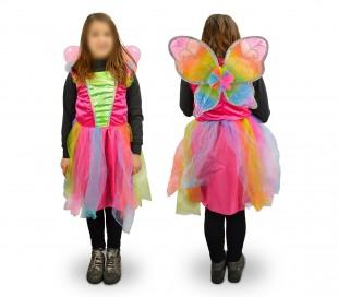 616945 Disfraz de carnaval motivo MARIPOSA (3 a 12 años)