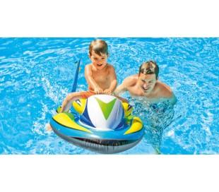 Inflable en forma de moto de agua manejable 117x77 cm INTEX