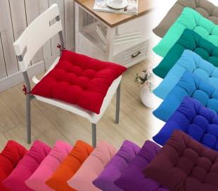 Set 4 cojines para sillas modelo LORELAI 40x40cm varios colores y acolchados