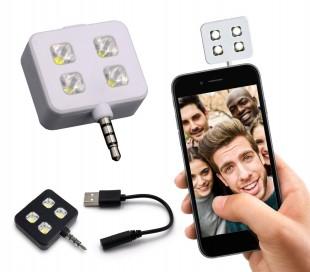 221791 Mini flash 4 LED para selfies compatible con Samsung y Apple