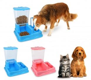 3028 Dispensador automático de alimentos y agua para perros y gatos