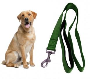 054253 Correa corta para perros ART 5425 nylon 120 cm verde militar mosquetón