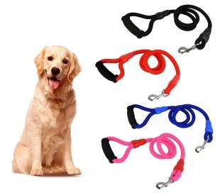 Correa de cuerda para perros ART 0077 medianos-grandes 114 cm mosquetón