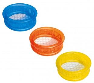 51112 Piscina inflable para niños en 3 colores fondo inflable 64x25 cm