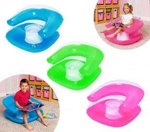 75006 Sillón inflable para niños en tres colores Bestway 76 x 76 cm