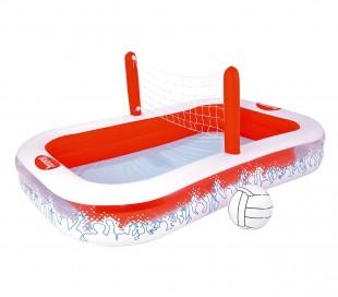 54125 Piscina inflable con red para voleibol niños Bestway 253x168x97 cm