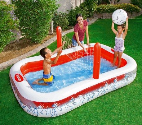 54125 piscina inflable con red para voleibol ni os bestway 253x168x97 - Red voley piscina ...