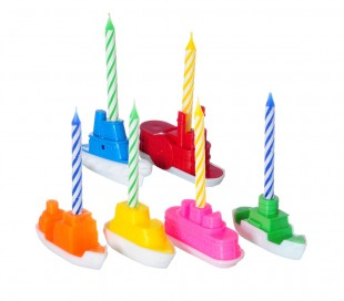 565109 Set porta velas en forma de Barco 4 piezas incluye velas