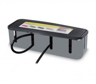 703422 Caja guarda cables para escritorio de plastico duro 27x7.5x7.5cm
