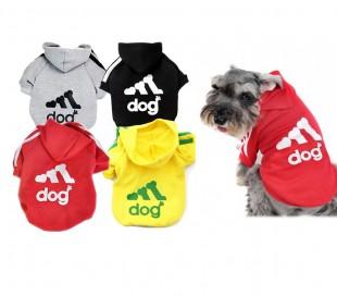Sudadera adidog con capucha para perros pequeños en varios colores