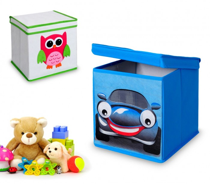783102 caja guarda juguetes cuadrada con tapa 27 x 28 cm - Cajones guarda juguetes ...
