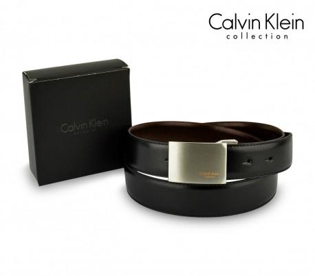 CK014 B44 Cinturón hombre CALVIN KLEIN hebilla de acero cepillado 110    125cm 5eb2dfa9af58