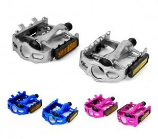 300057 Pack de dos pedales de aluminio FLAT para recambio bicileta ø 14.2 mm