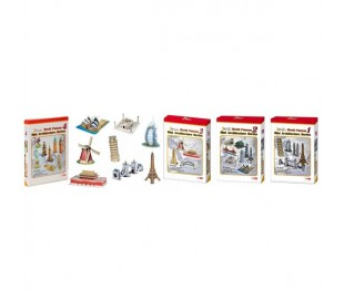 Puzzles 3D de monumentos de arquitectura mundial en version mini diferente packs