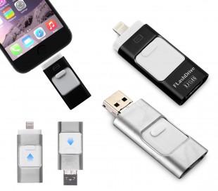 Pendrive usb 3 en 1 conector lightning micro usb 64 GB unidad de almacenamiento