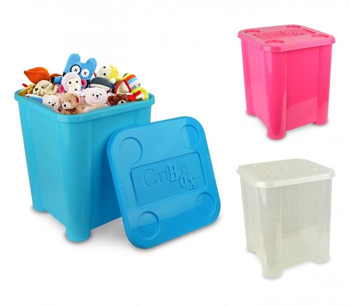 355312 caja de pl stico rigido para juguetes con tapa 29 x - Caja plastico con tapa ...