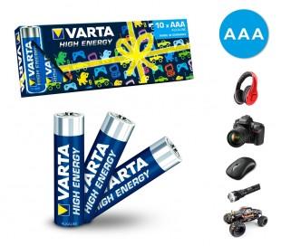 Paquete de 10 pilas AAA Varta 774128 alcaline LR03 1.5V