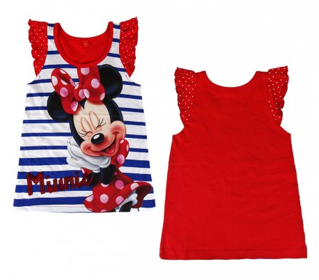 fd14cfcf3 2200001940 Camiseta de algodón para niña motivo MINNIE tallas 2 a 6 años