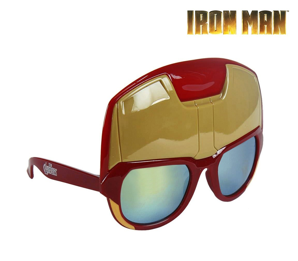 25-657 Gafas de sol/Mascára para niño motivo IRON MAN protección rayos