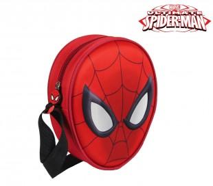 21-1664 Bolsa de la compra SPIDERMAN 3D con correa de hombro ajustable 14x18x5