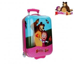 2650351 Trolley rigida con ABS equipaje de mano motivo Masha y Oso 31x55x20 cm