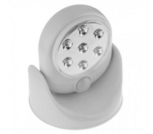 Lámpara led-faro led rotatorio 360º con sensor de movimiento y 7 luces led