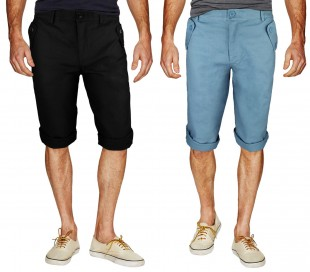 Pantalón pirata hombre mod. REVERS longitud hasta la rodilla - moda masculina