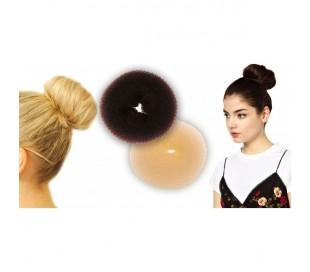 Elástico parada nylon cabello donut bollo del pelo peinados para la mujer