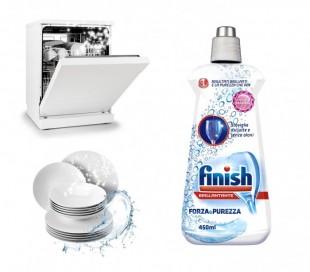 3009165 FINISH abrillantador fuerza y pureza detergente para lavavajillas 450ml
