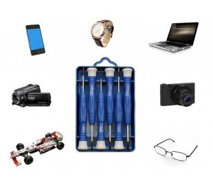 Set portátil de 6 destornilladores de precisión para reparar dispositivos reloje