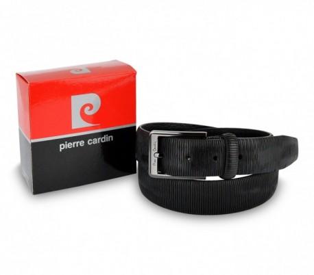 8013 Cinturón para hombre de cuero PIERRE CARDIN Marrón y Negro hebilla con  logo 2b4b3741fd91