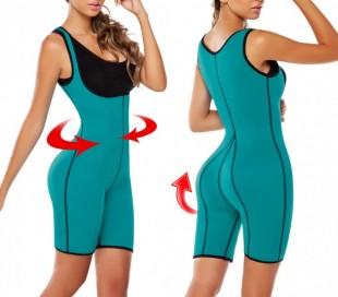 Body reductor con efecto sauna moldeante con pantalones cortos varios colores