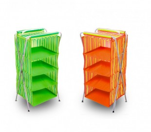 748240 Organizador para colgar ahorra espacio con 4 estantes 80x 40x 32 cm