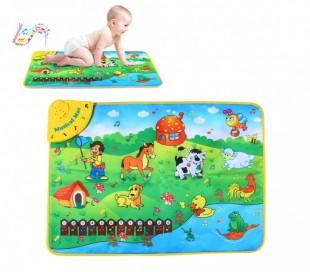 121775 Alfombra musical juego interactivo BABY FARM con melodías 75x50 cm