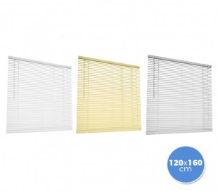 000774 Persiana veneciana de aluminio 120 x 160 cm para interiores