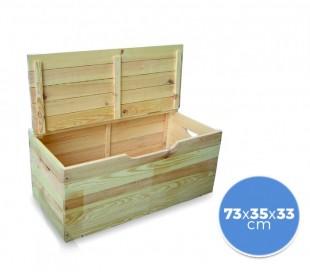 Baúl de madera 14 mm de pino contenedor de almacenamiento 14mm 73 x 35 x 33 cm