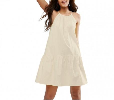 c22b682eb8 3911 Vestido corto de tela suave para mujer tirantes ajustables varios  colores