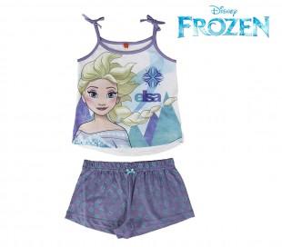 SS17FZ Pijama de verano para niños modelo Frozen Elsa tallas de 3 a 7 años
