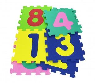 232026 Alfombra puzzle suave con NÚMEROS 10 piezas 29.5 x 29.5 x 8 cm colorida