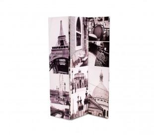 05976 Biombo de madera modelo París 120 x 180 cm con tres paneles